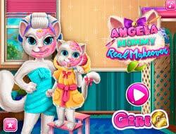 455b0c56b617 Παιχνίδι Μιλώντας γάτα Angela  Η πραγματική μεταμόρφωση. Παίξτε δωρεάν  online.