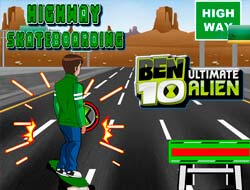 Game Ben 10 Highway Skateboardind Play Free Online