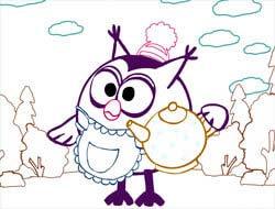 Ігра Смішарики  Розфарбуй малюнок . Грати безкоштовно онлайн. 1d8169b578aab